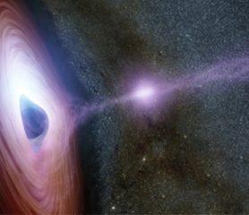 พบแสงสว่างออกมาจากหลุมดำมวลมหาศาล!