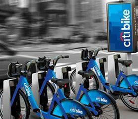 Citi Bike ติดตั้งอุปกรณ์ส่องไฟเป็นสัญลักษณ์จักรยาน