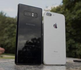 Galaxy Note 8 VS iPhone 7 Plus เปรียบเทียบภาพ Portrait