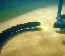 งูหุ่นยนต์ ! สามารถซ่อมเครื่องกลใต้ท้องทะเลลึกได้